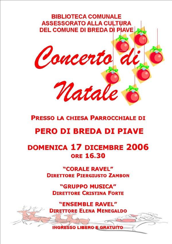 Volantino concerto Natale 2006