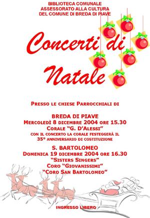 Volantino Concerti di Natale 2004