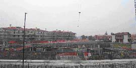 foto panoramica lavori di edilizia residenziale pubblica a Breda